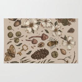 Nature Walks (Light Background) Rug