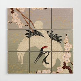 Japanese Crane Wood Wall Art