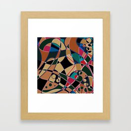 Abstraction. Curves and bends. Framed Art Print