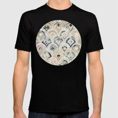 Art Deco Marble Tiles in Soft Pastels  Mens Fitted Tee MEDIUM Black