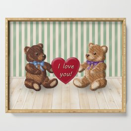 I Love You Beary Much! Serving Tray