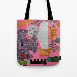 Highlighter Pink Tote Bag
