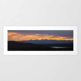 Colorado Vista Sunset Panorama Art Print