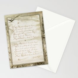 Christmas and birthday cards with poems by Joaquin Miller from Aladdins Lamp by Joaquin Millers poem Stationery Cards