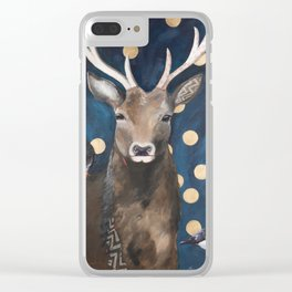 Stag with Tubbs and Goose Clear iPhone Case