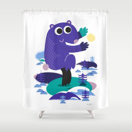 Taiji Panda Shower Curtain