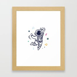 Cheerful Dance Framed Art Print