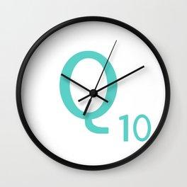 Blue Q Scrabble Art Initial Wall Clock
