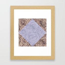 Art Nouveau Rose Framed Art Print