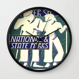 Vintage poster - Winter Sports Wall Clock