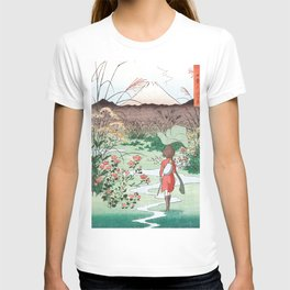 Arrietty Japanese woodblock mashup T-shirt