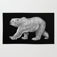 polar bear Area & Throw Rugs featuring Polar Bear by Tim Jeffs Art