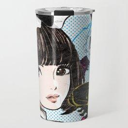 Black,Lemon,Brunette Travel Mug
