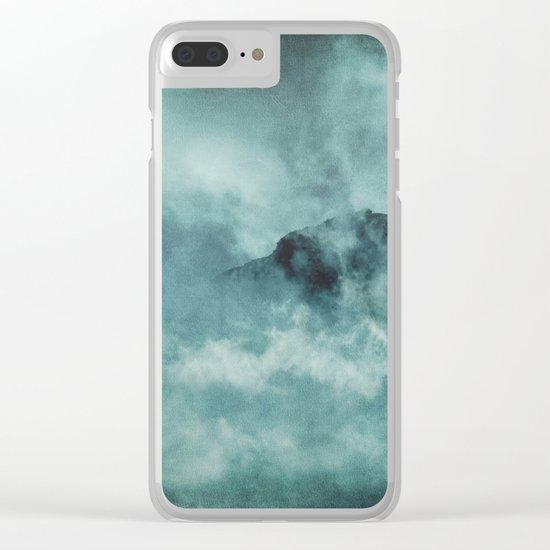On the top of the world- Mountains Dust Clear iPhone Case