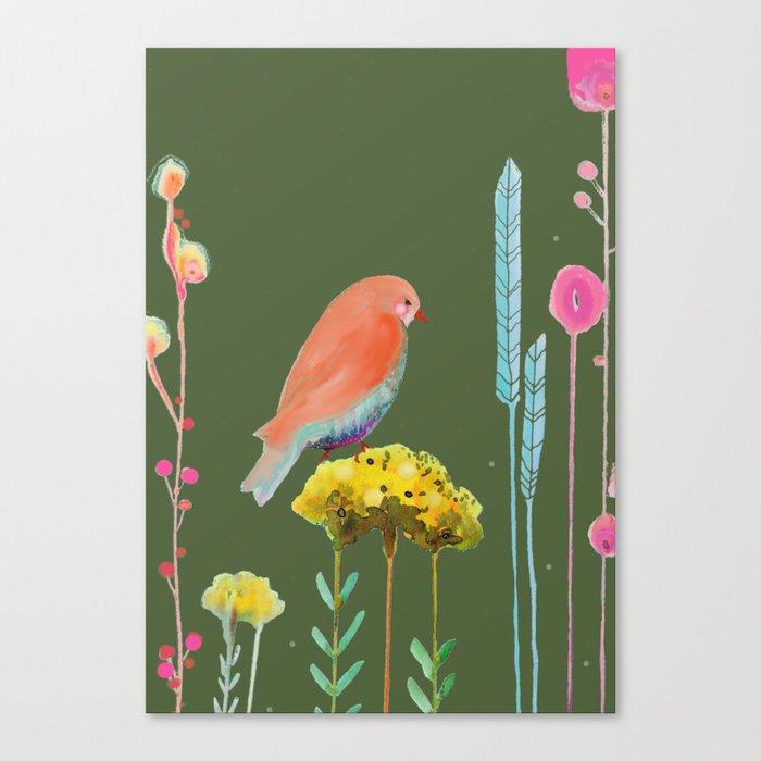 en chemin (kaki) Canvas Print