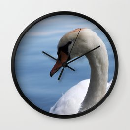 Colse up swan Wall Clock