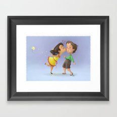 Kiss the boy Framed Art Print