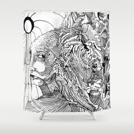 Mouth Drip Shower Curtain