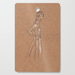 Girl from another time Cutting Board