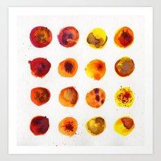 Sherbert Dot Art Print