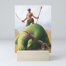 The beast hunter Mini Art Print