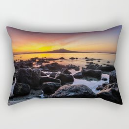 Rangitoto Island New Zealeand Rectangular Pillow