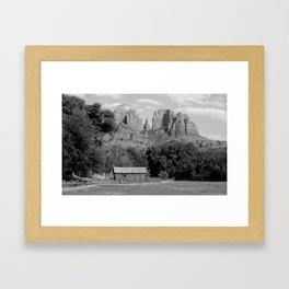 Red Rock B&W Framed Art Print