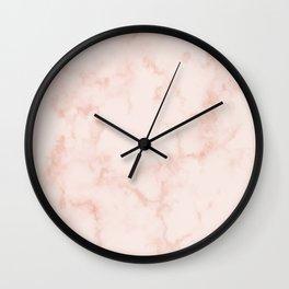 Marble Peach Blush Wall Clock
