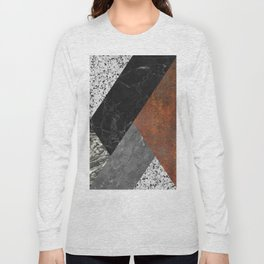 Marble, Granite, Rusted Iron Abstract Long Sleeve T-shirt