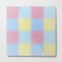 Pastel Jiggly Tile Pattern Metal Print