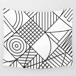 Whackadoodle White and black Wall Tapestry