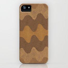 Under the Influence (Marimekko Curves) Whole Wheat iPhone Case