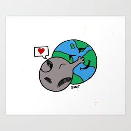 Love Earth Art Print