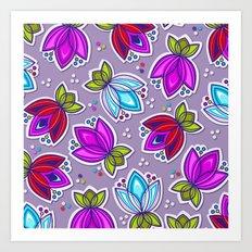 Pop Off Floral Art Print
