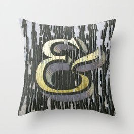 Distressed Ampersand Throw Pillow