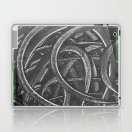 Junction - green/black graphic Laptop & iPad Skin