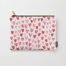 Watercolor heart pattern perfect gift to say i love you on valentines day Carry-All Pouch