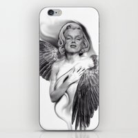 marylin monroe iPhone & iPod Skins featuring Marylin by Gianluca Fascetto Tattooer Painter