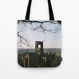 Kirkstall Abbey from the hill... Tote Bag