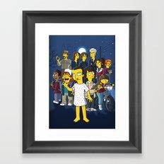 Simpsonized Things Framed Art Print