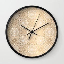 Gold Mandala 18 Wall Clock