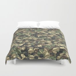 Fast food camouflage Duvet Cover