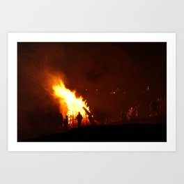 Evening Bonfire. Art Print
