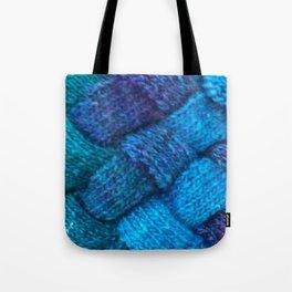 Blue Entrelac Tote Bag