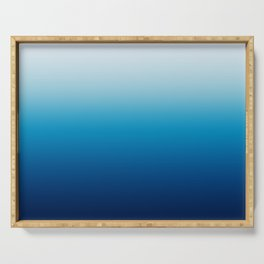 Sky and Ocean Blue Ombre Serving Tray