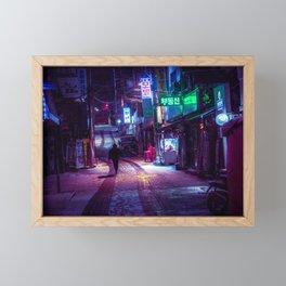 Snowfall at 5am Framed Mini Art Print