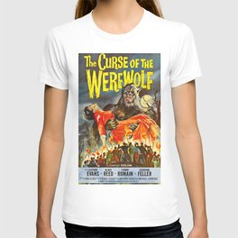 The Curse of the Werewolf, vintage horror movie poster T-shirt