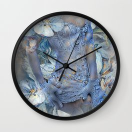 FLORAL AND LACE Wall Clock
