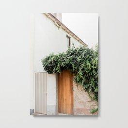 Beautiful wooden door | The Netherlands travel photography | Bright art print Metal Print