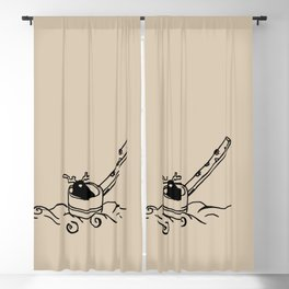 I am dipper - Linen Blackout Curtain